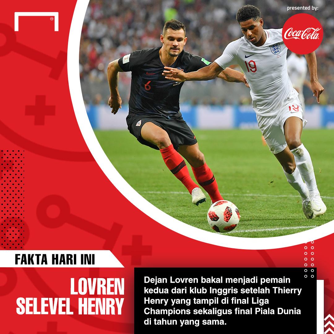Fakta Unik Piala Dunia 2018: Dejan Lovren Selevel Thierry Henry