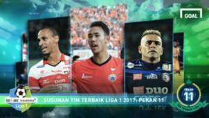 Best XI Liga 1 - Pekan 11