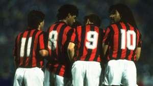 Carlo Ancelloti, Frank Rijkaard, Marco Van Basten and Ruud Gullit - AC Milan 1989