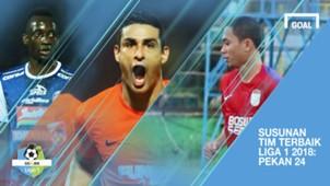 Cover Tim Terbaik Liga 1 2018 Pekan 24