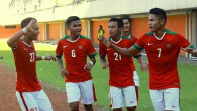 Selebrasi Indonesia U-19 vs Filipina U-19 | Uji Coba Internasional | 19 Agustus 2016 | Dimas Drajad dkk