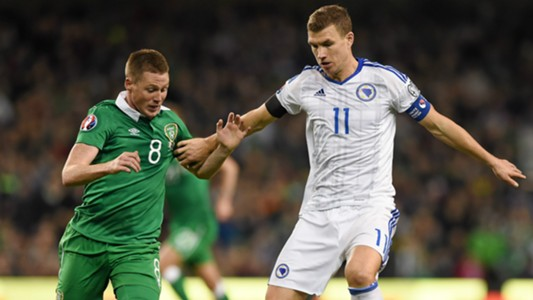James McCarthy Ireland Edin Dzeko Bosnia 161115