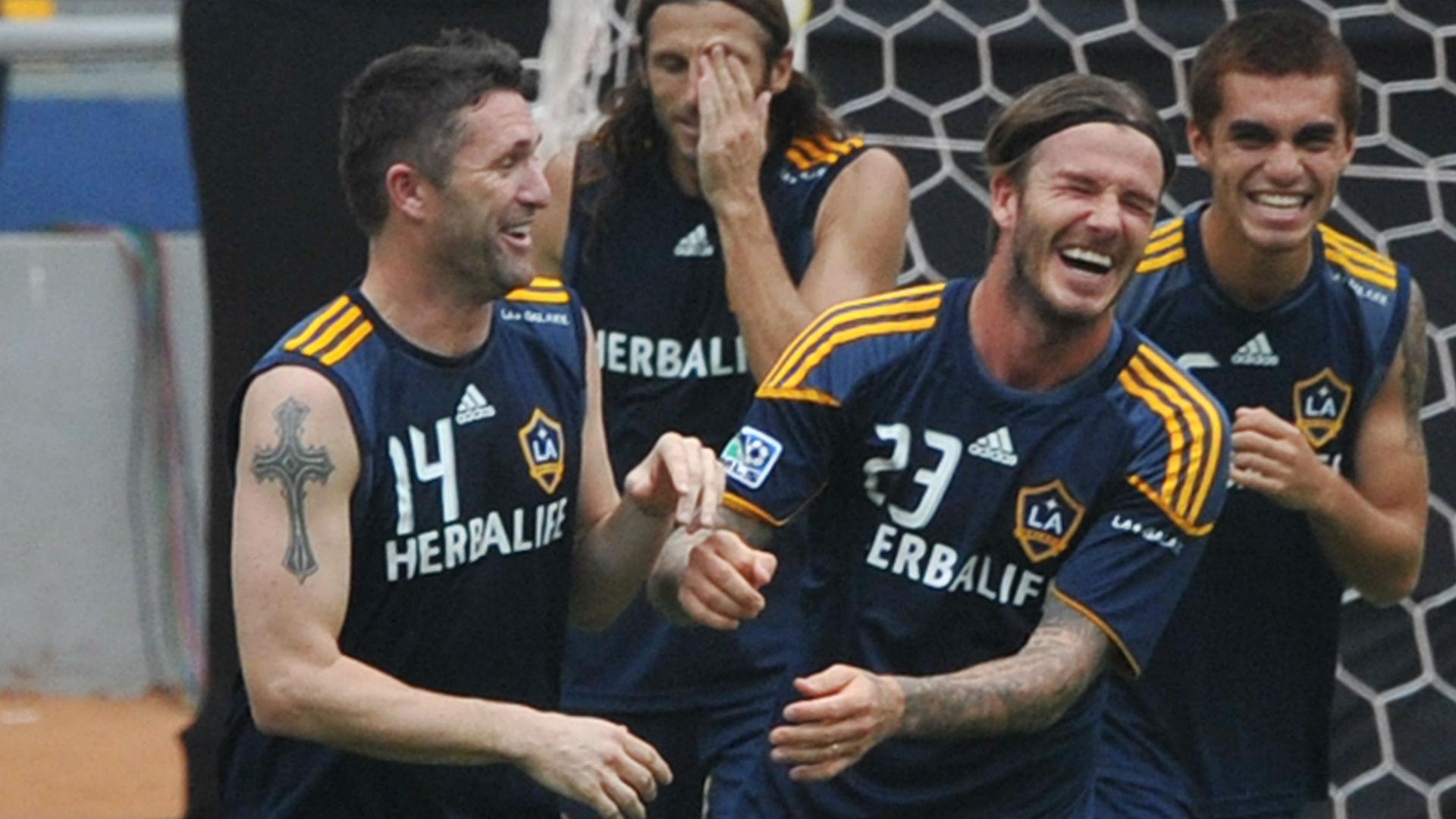 Robbie Keane David Beckham LA Galaxy 29112011