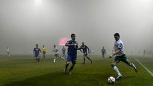 Robbie Brady Mensur Mujdza Fog Bosnia-Herzegovina Republic of Ireland Euro 2016 Playoff 13112015