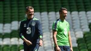 Roy Keane Robbie Keane Republic of Ireland 24052016