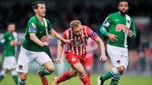 Liam Miller Kieran Djilali Sander Puri Cork City Sligo Rovers 08052015