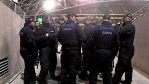 Police at Aviva Stadium Dublin Ireland 161115