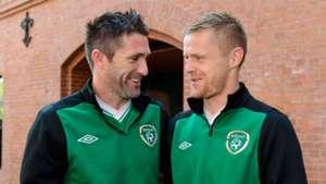 Robbie Keane Damien Duff Republic of Ireland Euro 2012
