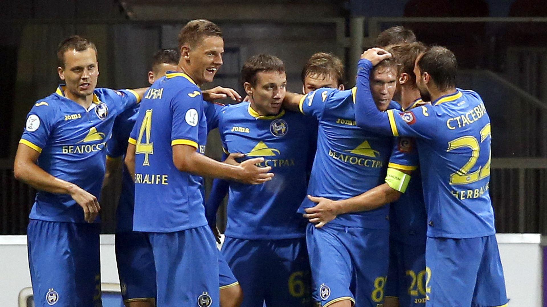 BATE Borisov players celebrate against Dundalk 26072016