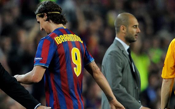 Zlatan Ibrahimovic & Pep Guardiola