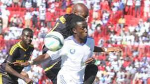 AFC Leopards attacking midfielder Allan Kateregga against Chemelil Sugar