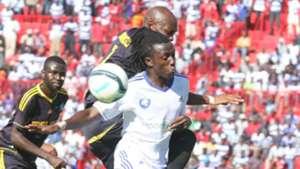 AFC Leopards attacking midfielder Allan Kateregga against Chemelil Sugar