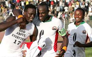 Former Harambee Stars captain Dennis Oliech and midfielder Macdonald Mariga