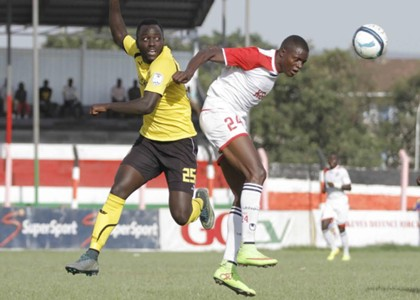 Tusker defender Eugine Asike v Ulinzi Stars