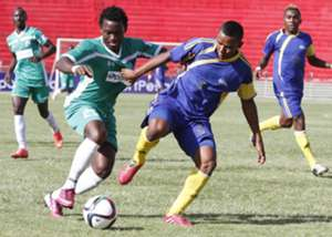 Gor Mahia striker George 'Blackberry' Odhiambo against CNaPs