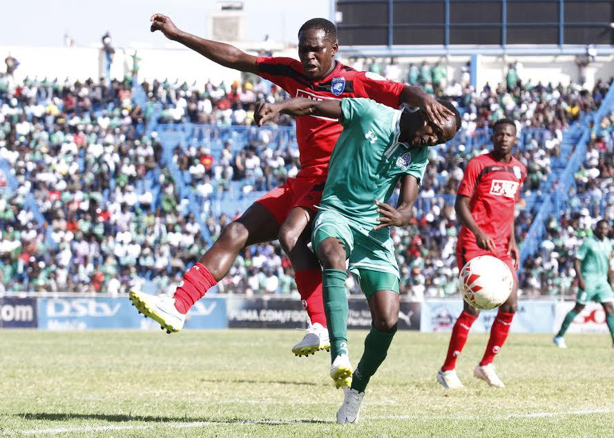 AFC Leopards defender Edwin Wafula goes the ball against Gor Mahia's Goddfrey Walusimbi