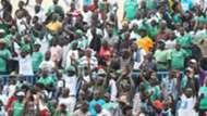 Gor Mahia fans rally behind their team as they battled against AFC Leopards