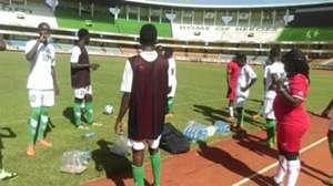Harambee Stars U-20 players training at Kasarani