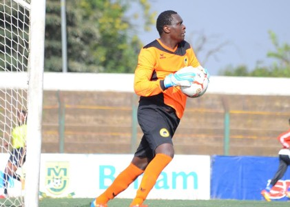 Tusker goalkeeper Duncan Ochieng' was red carded against City Stars