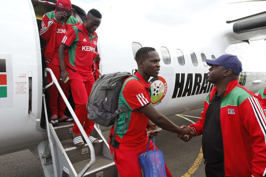 Harambee Stars have landed safely from Cape Verde where they played a World Cup qualifying match
