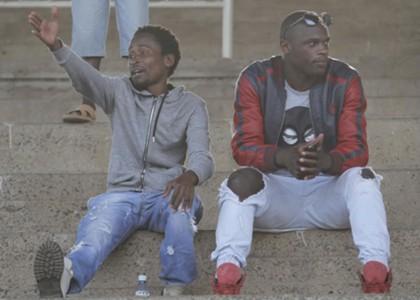 Kenya striker Dennis Oliech watching a local league match recently