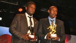 Sofapaka striker Enock Agwanda and Ulinzi Stars' Stephen Waruru who finished joint second in goals' chart.