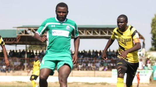 Gor Mahia striker Enock Agwanda against Chemelil Sugar