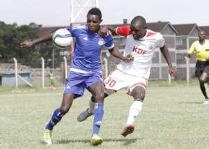 Ulinzi Stars striker Kevin Amwayi v City Stars
