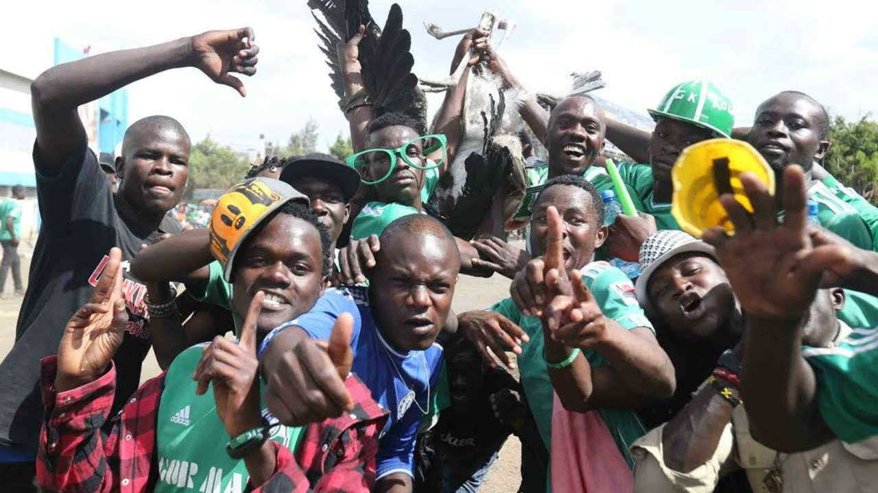 Gor Mahia fans outside Nyayo Stadium before the game kicked off