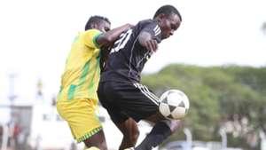 Patillah Omotto of Sharks tackles Masita Masuta of Nzoia Sugar