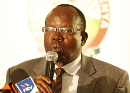 FKF President Sam Nyamweya addresses media
