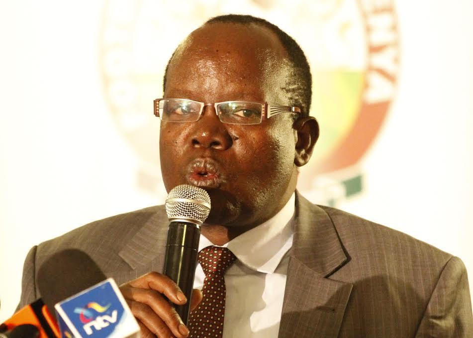 FKF President Sam Nyamweya addresses media