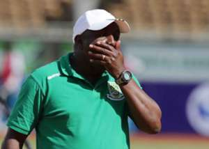 Mathare United coach Francis Kimanzi against Kakamega Homeboyz