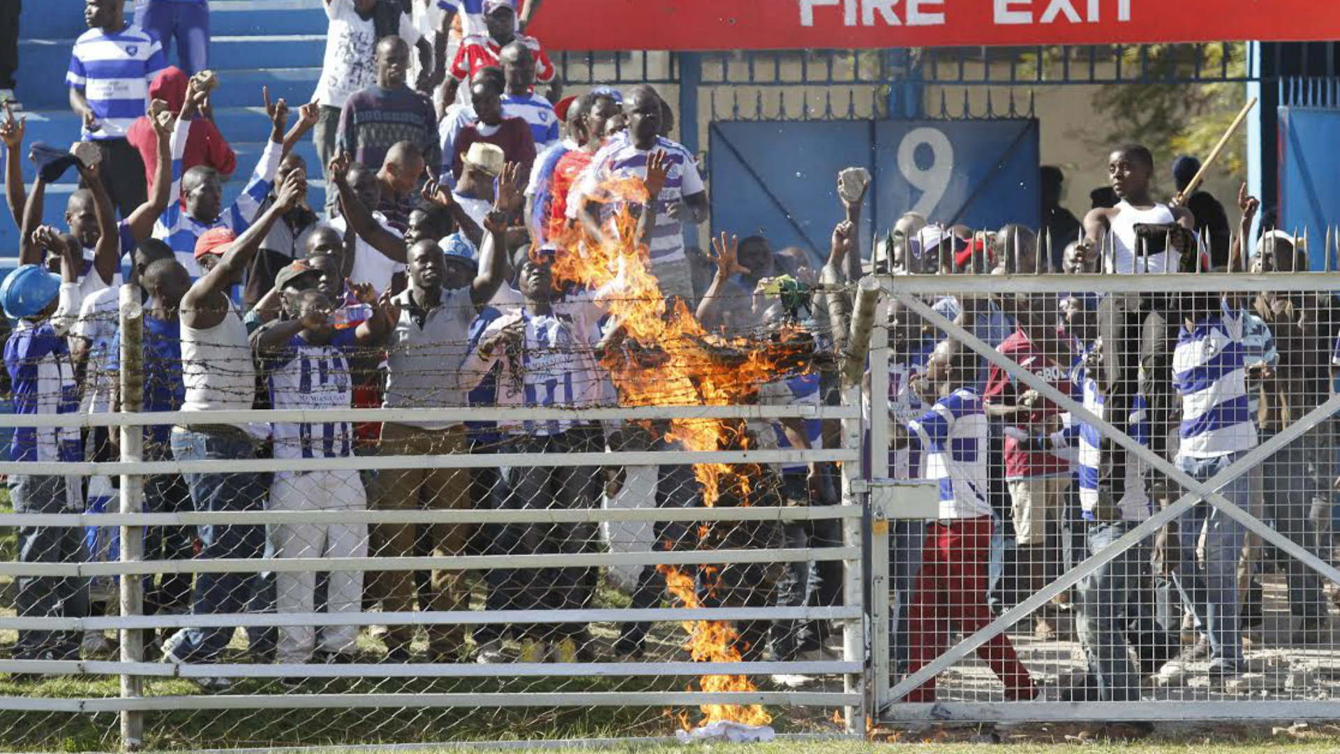 AFC Leopards fans start fire at Nyayo Stadium