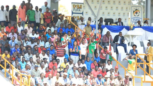 Kenyan fans who travelled to Kampala on Monday cheering on Harambee Starlets in the final
