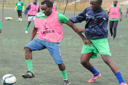Gor Mahia striker Timothy Otieno in training.