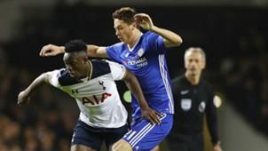 Victor Wanyama in action against Chelsea