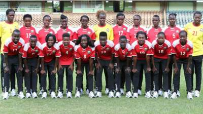 Harambee Starlets squad at the Awcon tournament