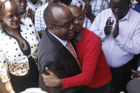 It was an historical moment on Tuesday as Sam Nyamweya handed over to new FKF President Nick Mwendwa