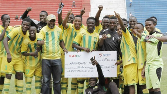 Kariobangi Sharks won the third play-off fixture against KCB at Nyayo Stadium