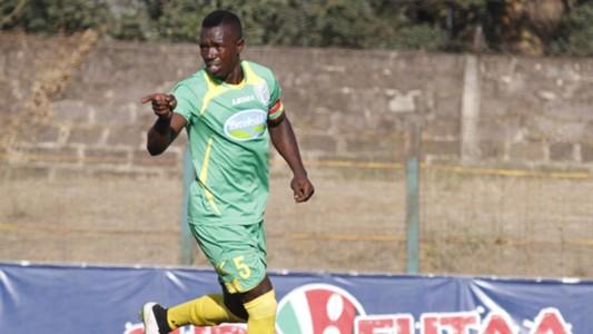 Vincent Omumbo celebrates scoring against City stars