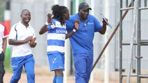 AFC Leopards striker Allan Kateregga is sent off against Ulinzi Stars