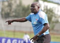 Muhoroni Youth coach Paul Nkata looked a worried man throughout the match