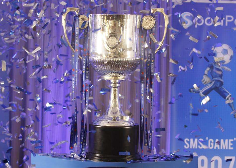The new trophy is made of brass and weighs 12kg and has silver coating on the outside.