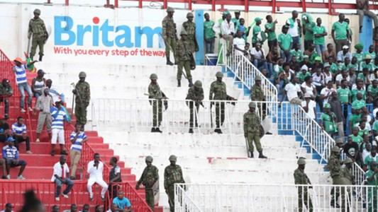 There was tight security as Gor Mahia took on AFC Leopards at Nyayo Stadium