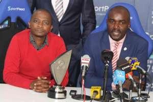 KPL CEO Jack Oguda and FKF boss Nick Mwendwa