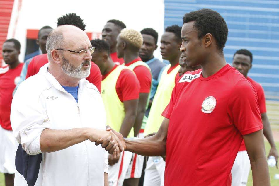 Harambee Stars head coach Bobby Williamson has praised youngster Toni Nyaoga after he trained with team on Thursday