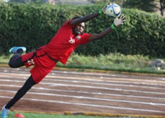 AFC Leopards goalkeeper Lucas Indeche