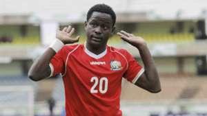 Harambee Stars defender Erick Ouma