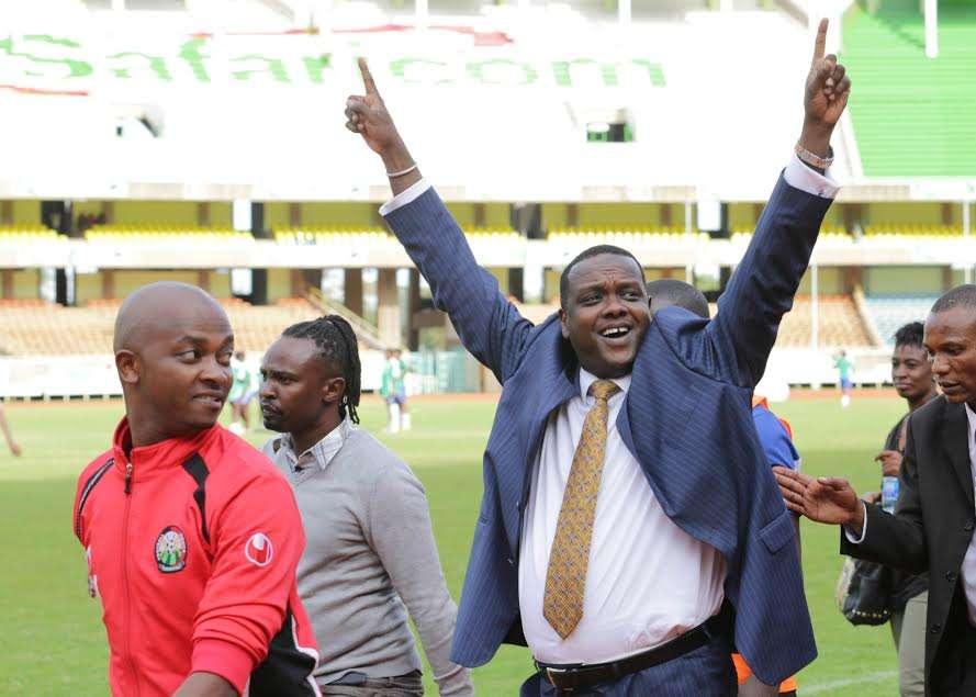 Sports Cabinet Secretary Hassan Wario was at hand to witness Harambee Starlets make history